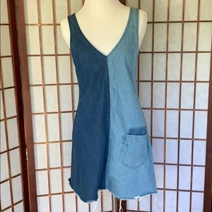 H&M Split Denim Pinafore Dress